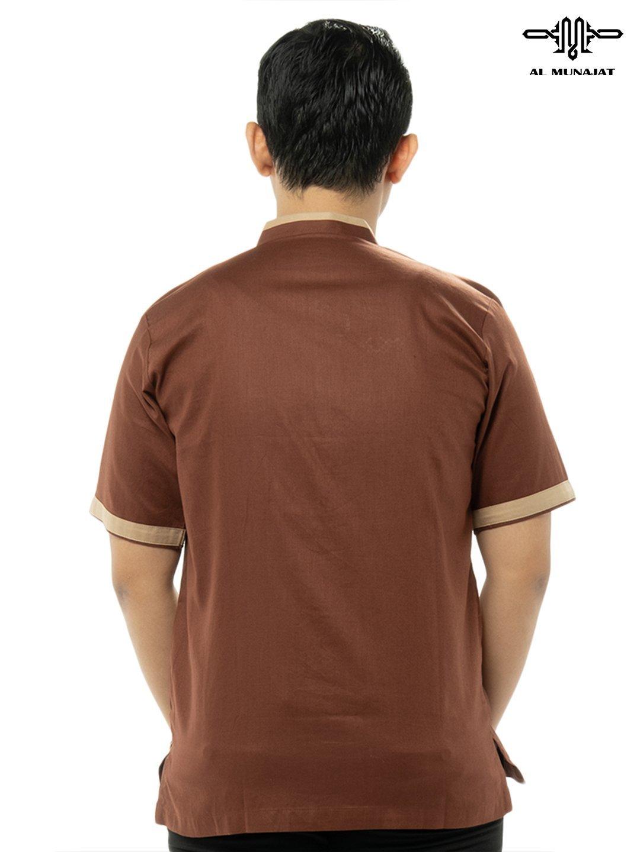 Yama Lengan Pendek Warna Brown / Coklat 1110