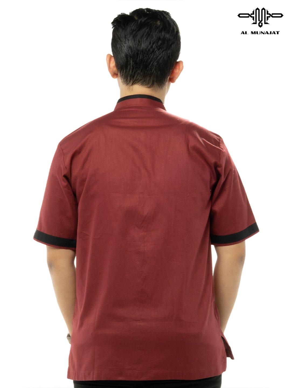 Yuzer Lengan Pendek Warna Red / Merah 2105