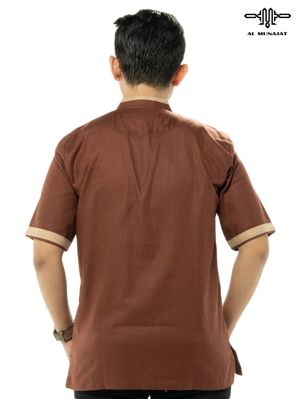 Yuzer Lengan Pendek Warna Brown / Coklat 2110