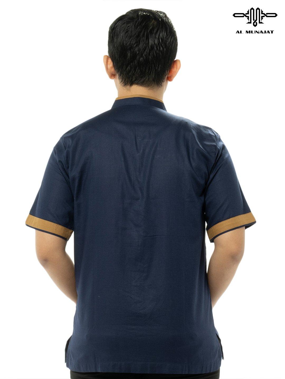 Yama Lengan Pendek Warna Navy / Biru Gelap 1106