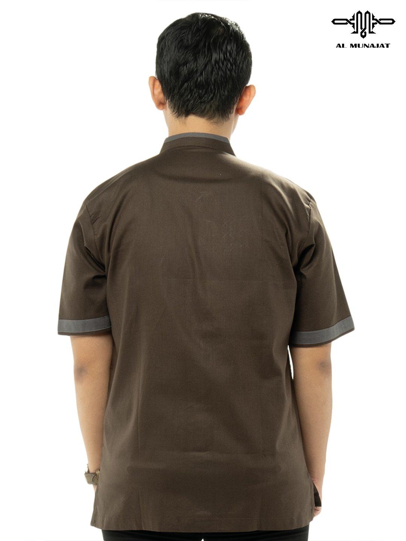 Yama Lengan Pendek Warna Milo / Coklat Gelap 1109