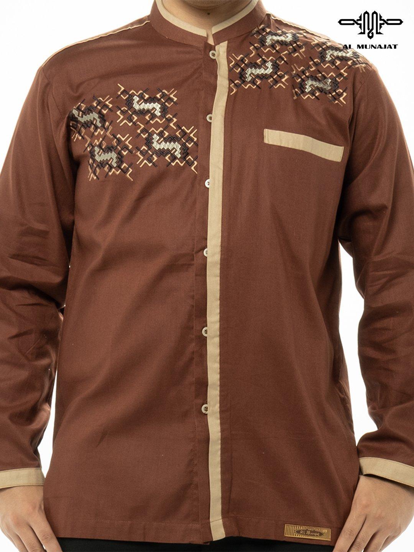 Yama Lengan Panjang Warna Brown / Coklat 1210