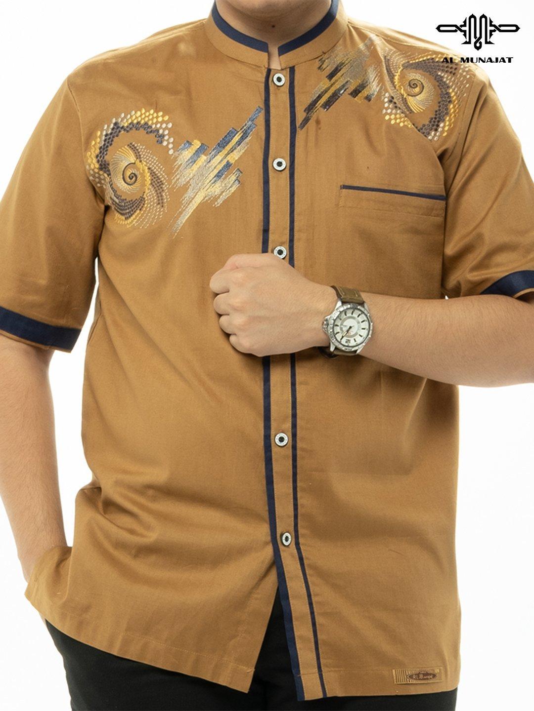 Yuzer Lengan Pendek Warna Camel / Coklat Muda 2104